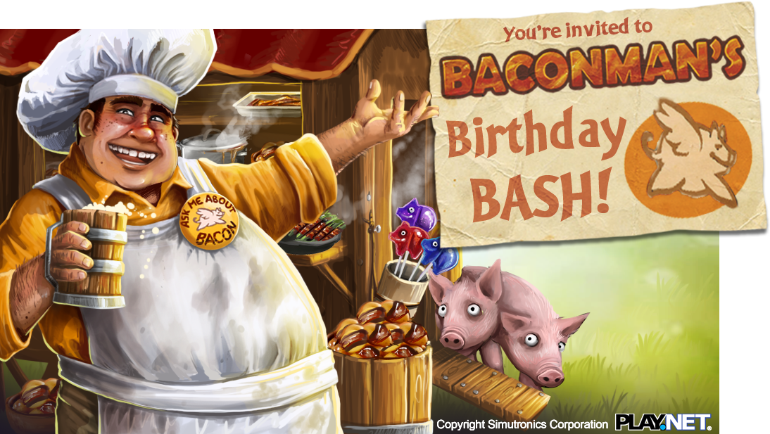 Bacon Man's Birthday